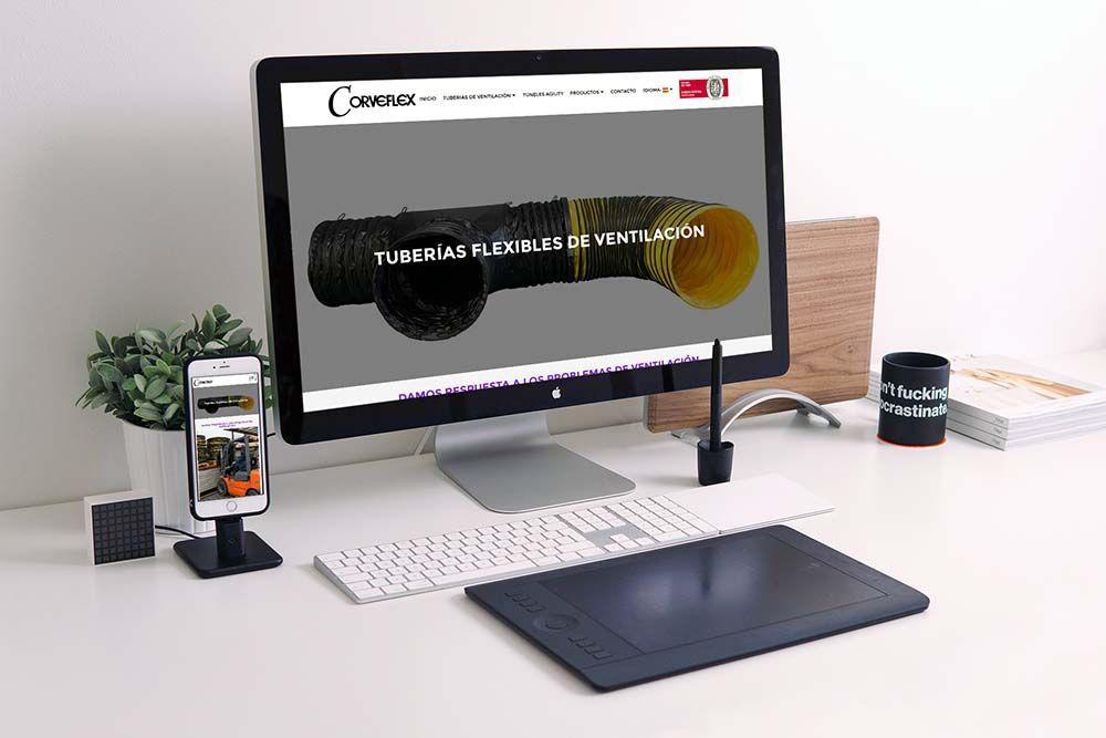 Diseño web Corveflex iMac - iPhone