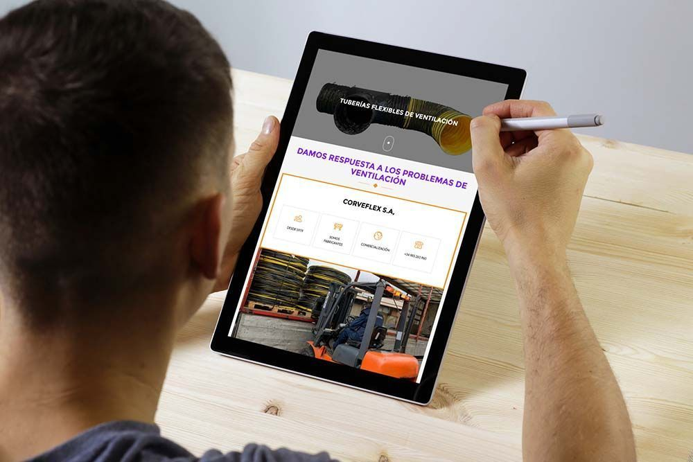 Diseño web Corveflex iPad