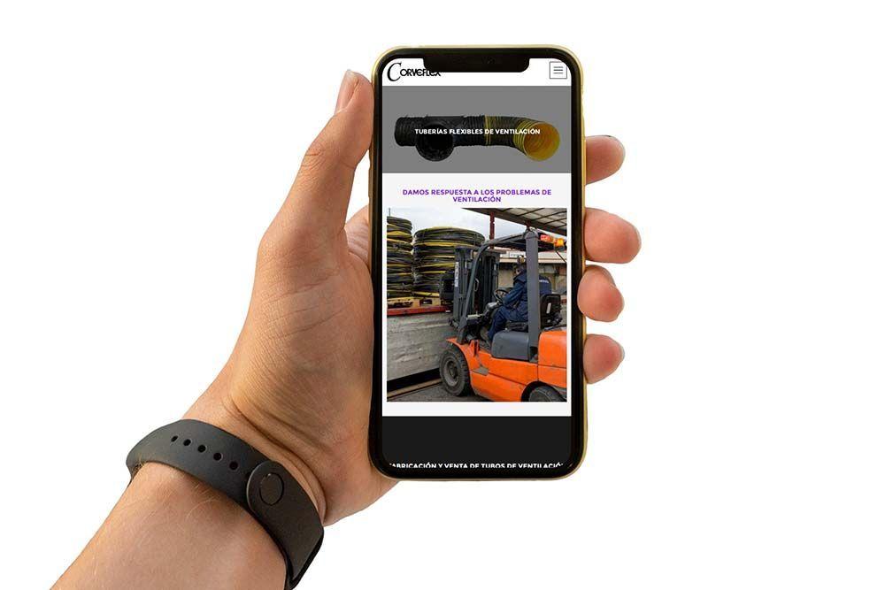 Diseño web Corveflex iPhone