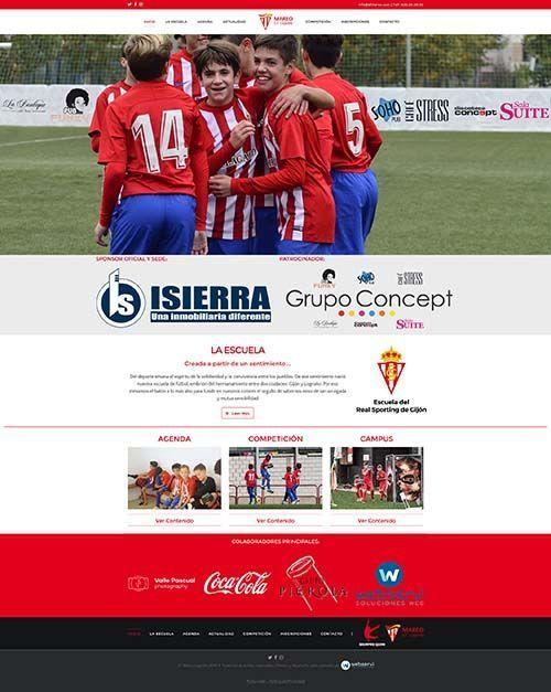 Diseño web EF Mareo Logroño Front>