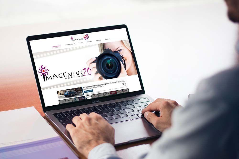 Diseño web Veranoimagenius MacBook