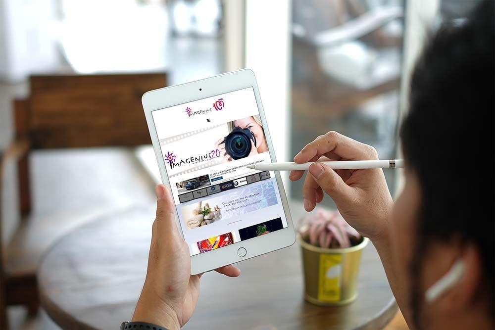Diseño web Veranoimagenius iPad