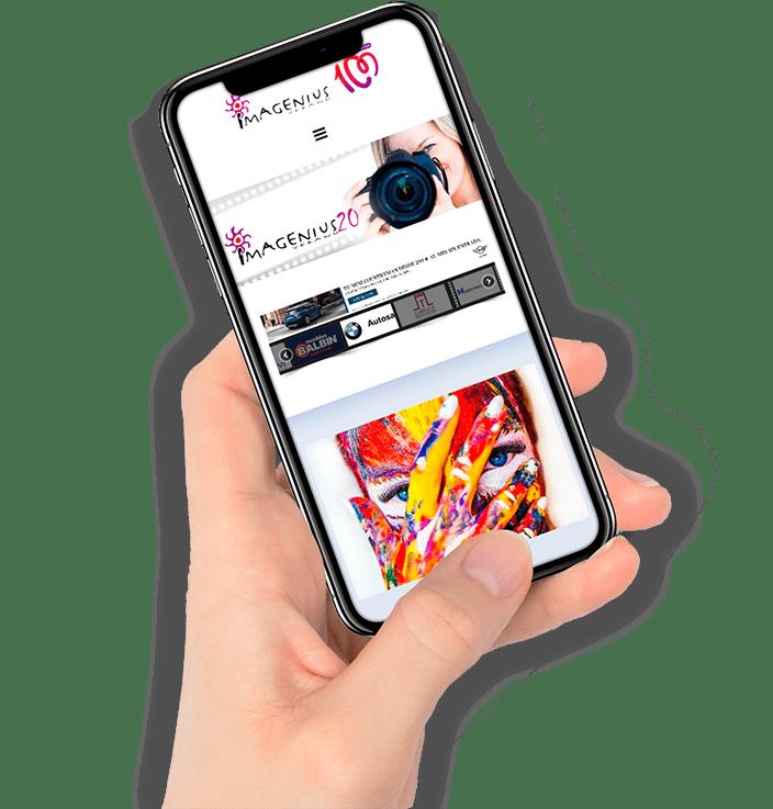 diseño web iPhone