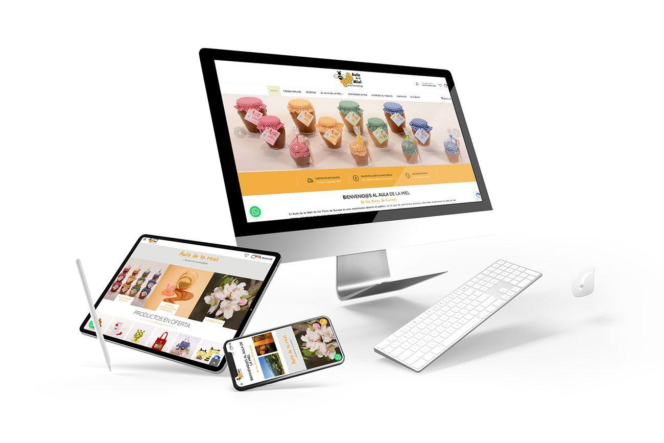 Diseño Tienda Online Aula de la Miel Responsive