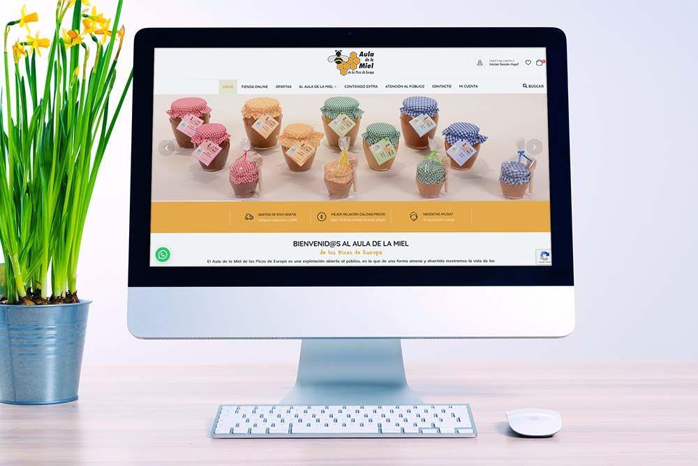 Diseño Tienda Online Aula de la Miel iMac