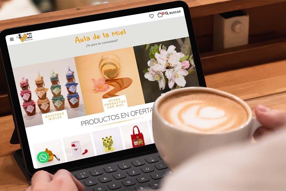 Diseño Tienda Online Aula de la Miel iPad