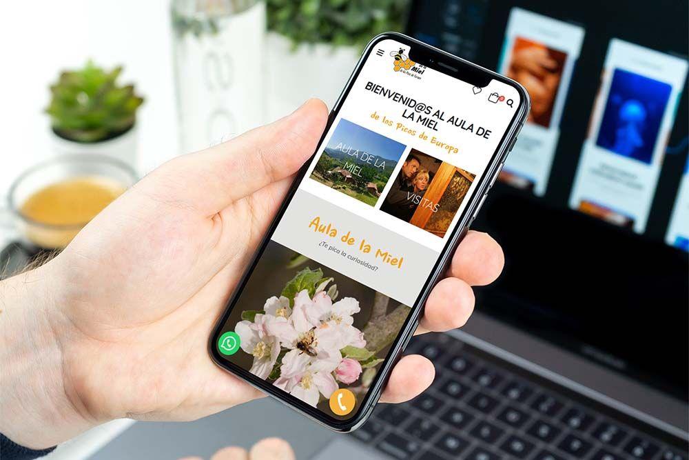 Diseño Tienda Online Aula de la Miel iPhone