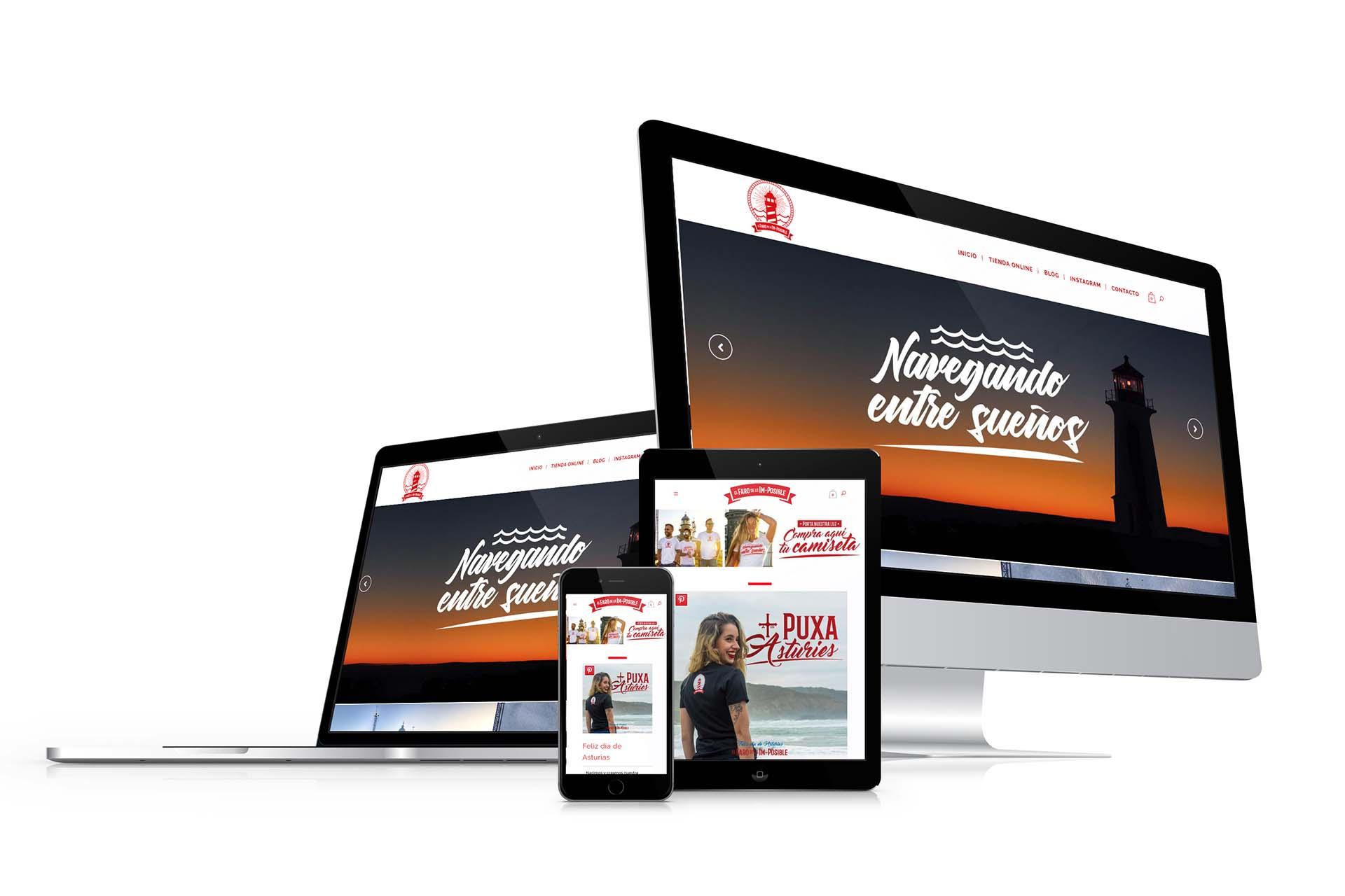 Diseño Tienda Online El Faro de lo Imposible Responsive