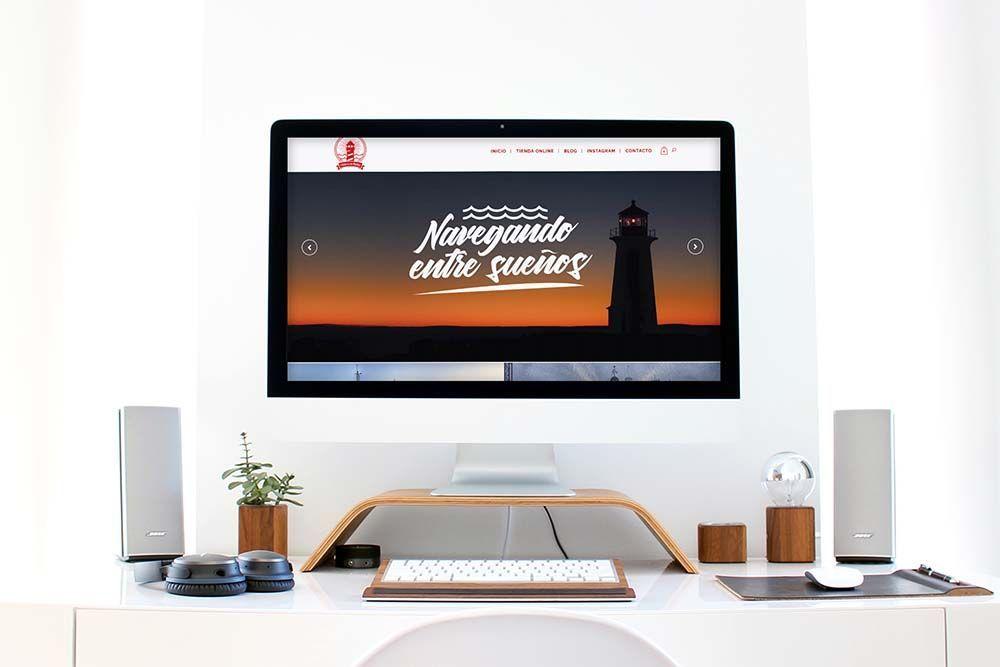 Diseño Tienda Online El Faro de lo Imposible iMac