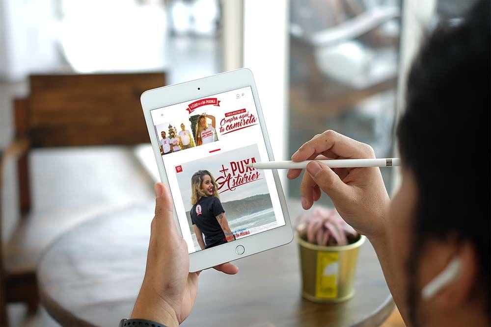 Diseño Tienda Online El Faro de lo Imposible iPad