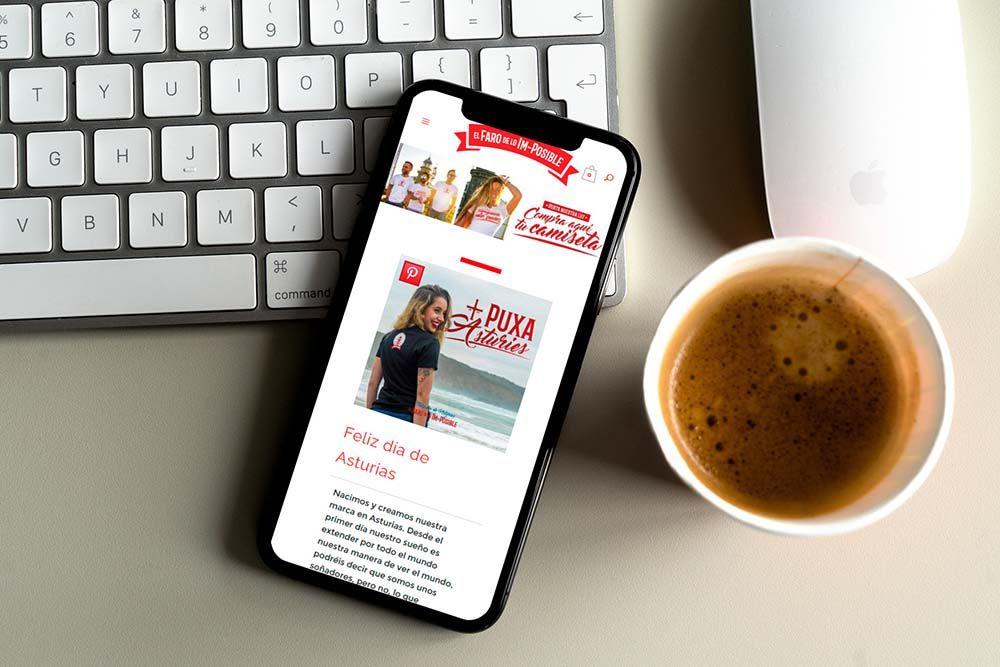 Diseño Tienda Online El Faro de lo Imposible iPhone