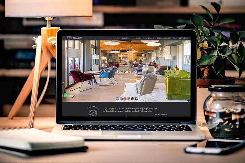 Diseño web Fotógrafa Valle Pascual MacBook