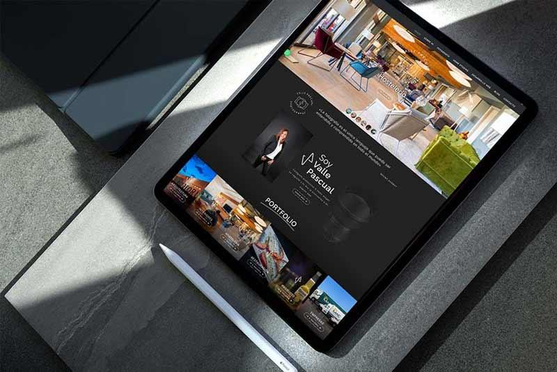 Diseño web Fotógrafa Valle Pascual iPad