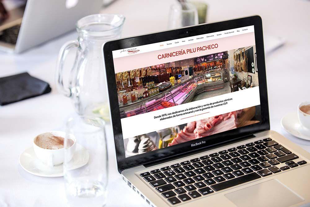 Diseño web Onepage Carnicería Pilu Pacheco MacBook