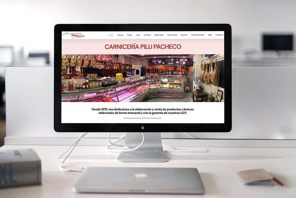 Diseño web Onepage Carnicería Pilu Pacheco iMac