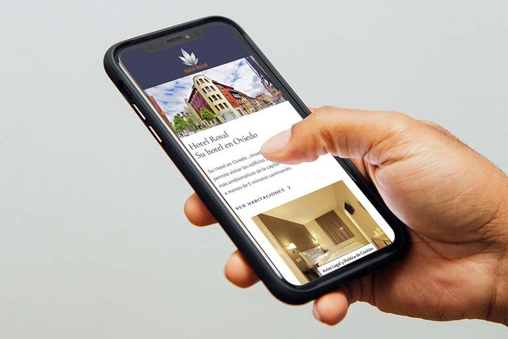 Diseño web para hotel el Rosal iPhone