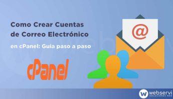 Crear cuentas de correo electrónico con Cpanel