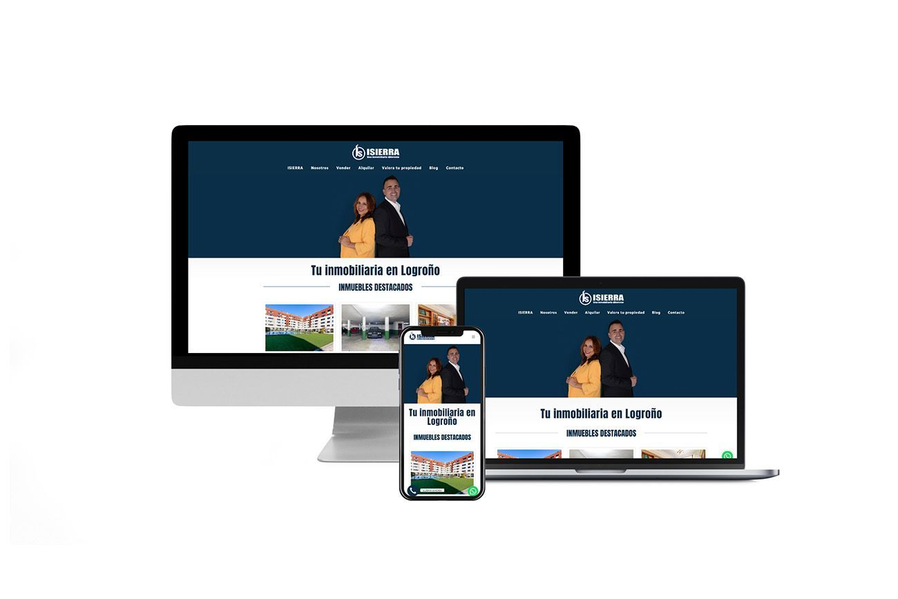 Diseño Multisitio web Inmobiliaria ISIERRA Responsive