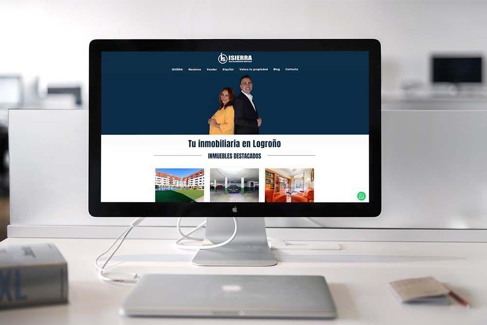 Diseño Multisitio web Inmobiliaria ISIERRA iMac