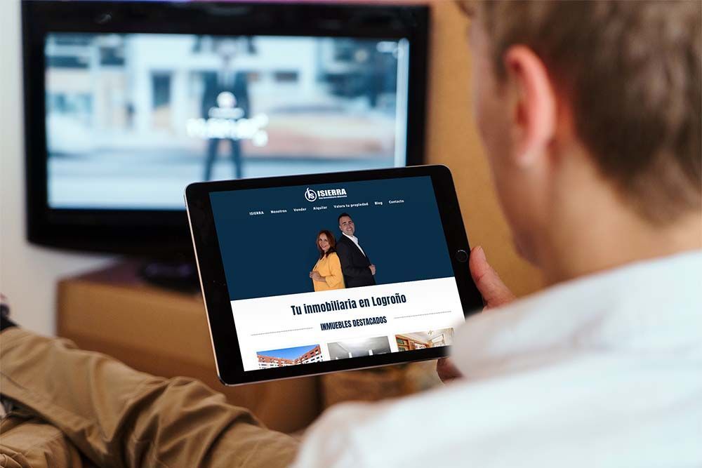 Diseño Multisitio web Inmobiliaria ISIERRA iPad