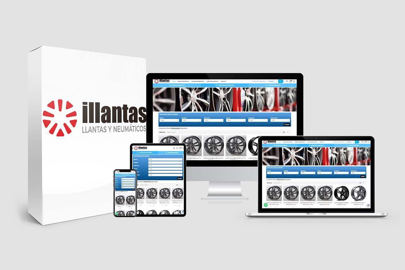 Diseño Tienda Online iLlantas