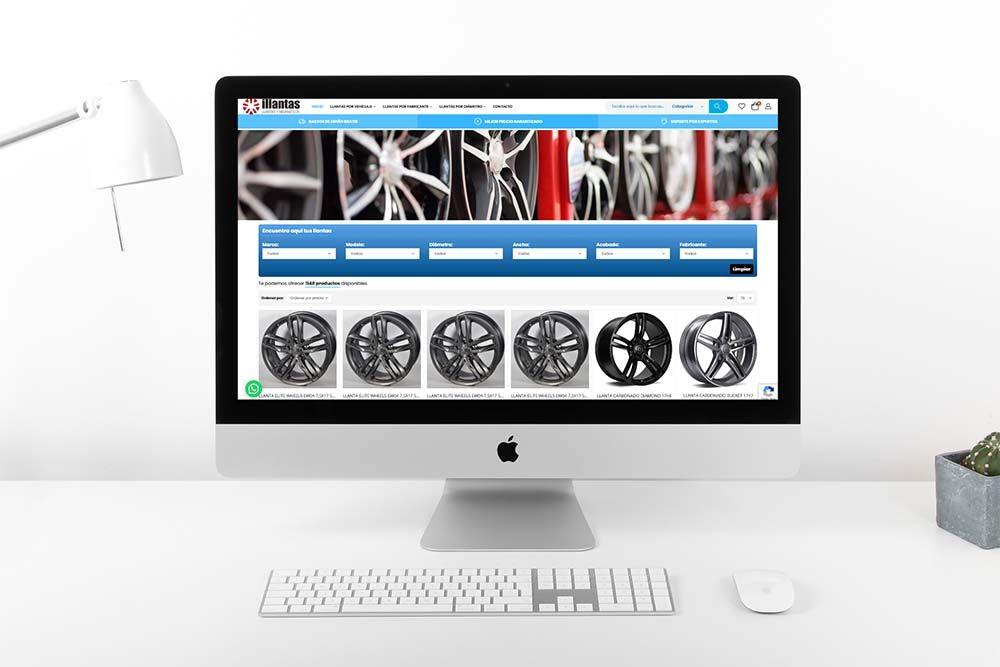 Diseño Tienda Online illantas iMac
