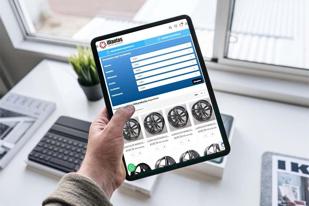 Diseño Tienda Online illantas iPad
