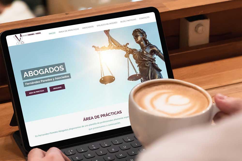 Diseño web Abogados Fernandez Paredes iPad