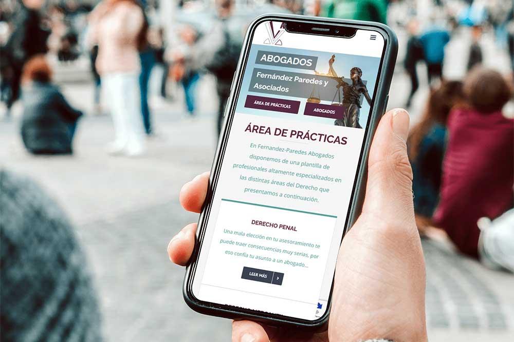 Diseño web Abogados Fernandez Paredes iPhone
