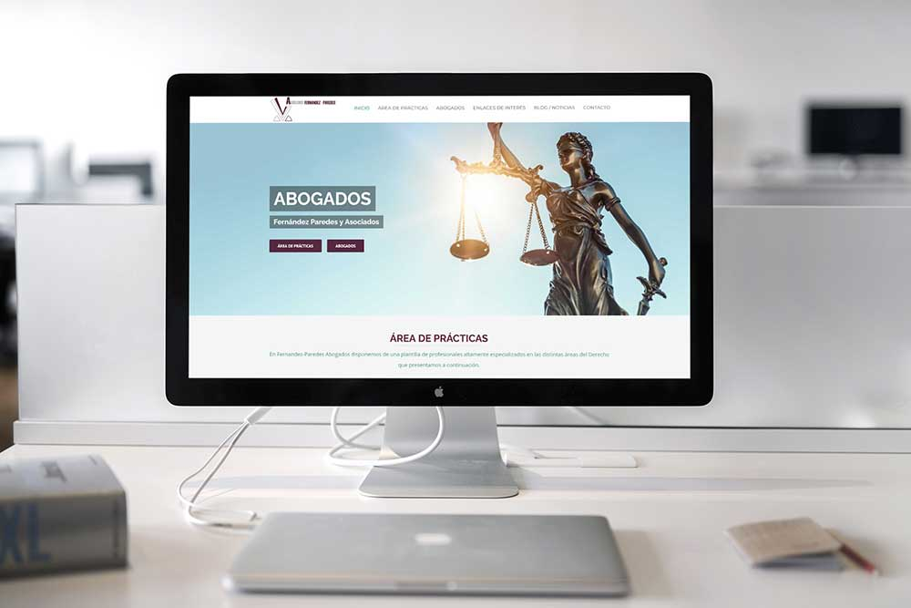 Diseño web Abogados Fernandez Paredes iMac