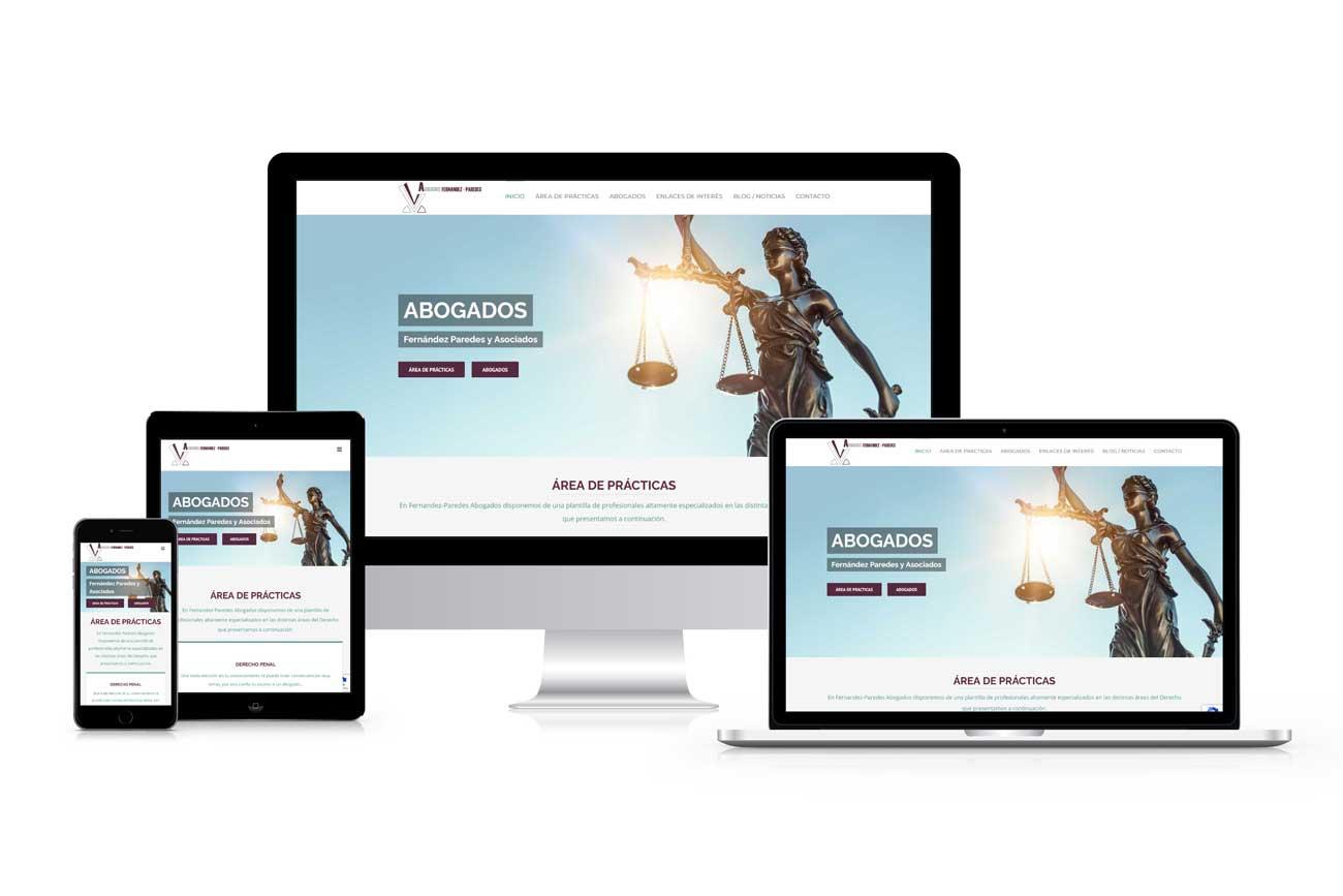 Diseño web Abogados Fernandez Paredes Responsive