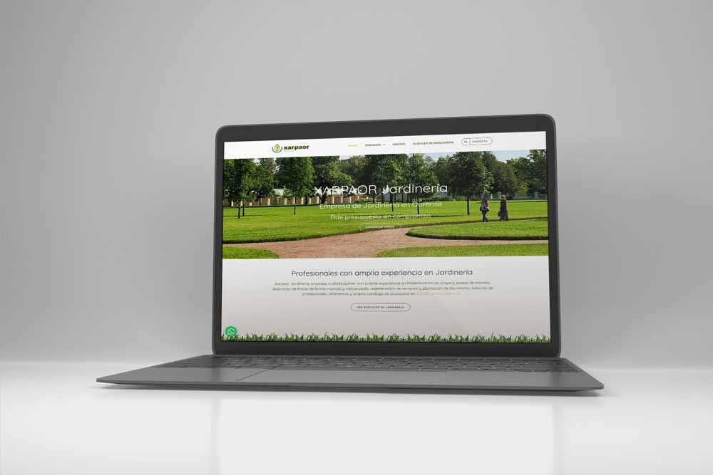 Diseño Web para Xarpaor MacBook