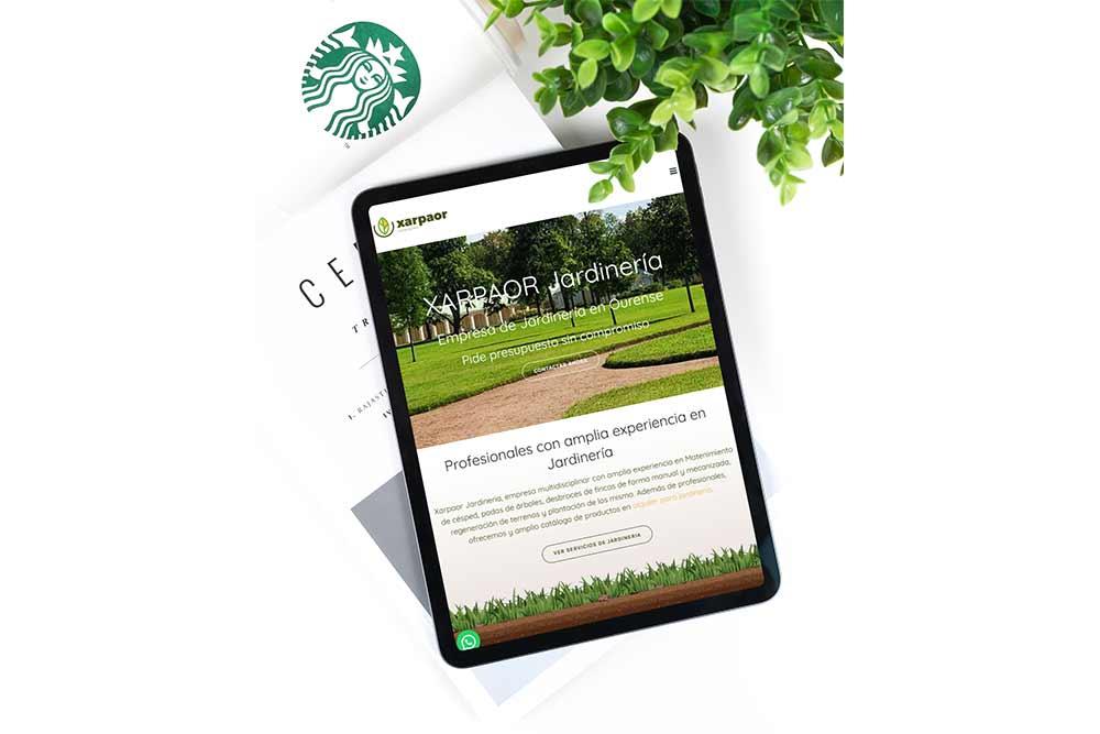 Diseño Web para Xarpaor iPhone
