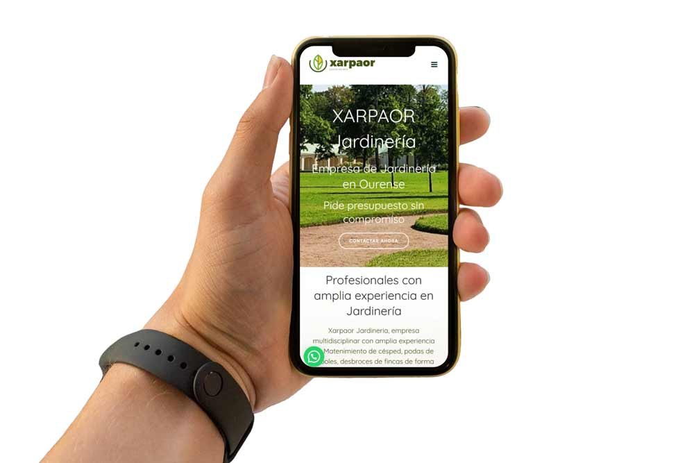 Diseño Web para Xarpaor Diseño Web para Xarpaor iPhone