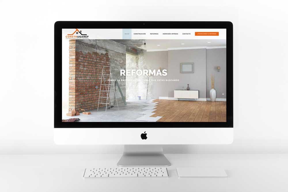 Diseño Web para Construgaref iMac