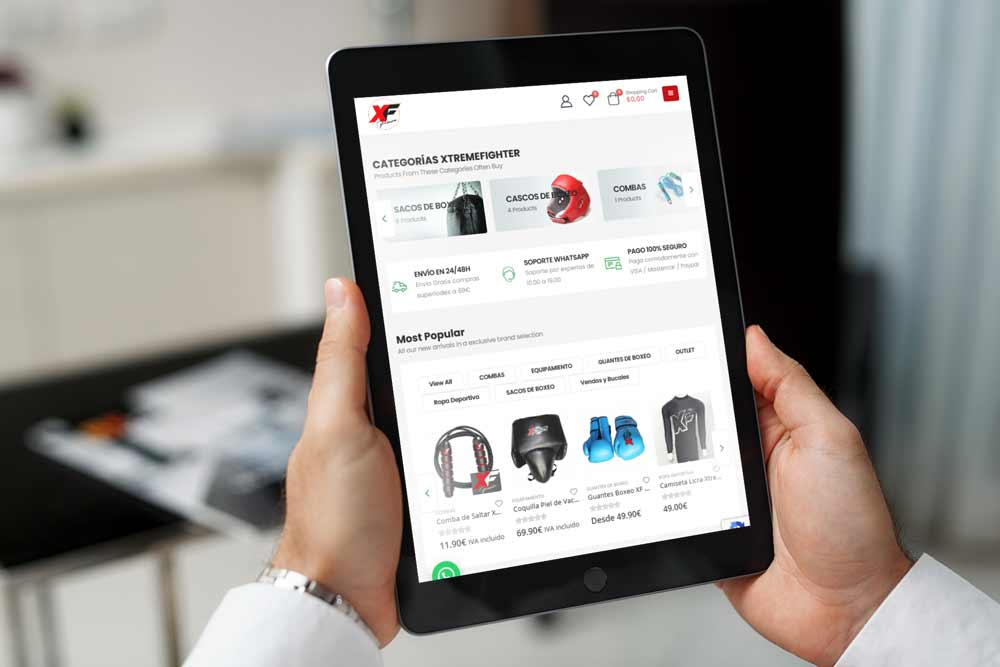 Diseño Tienda Online XF-Premium iPad