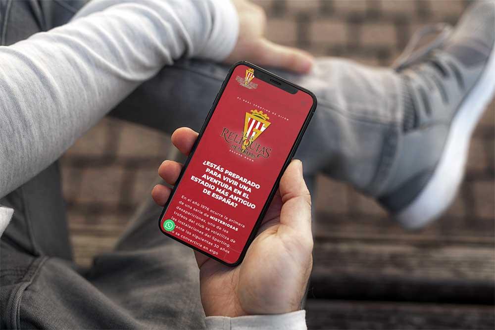 Diseño página web Escape Room Sporting de Gijón iPhone