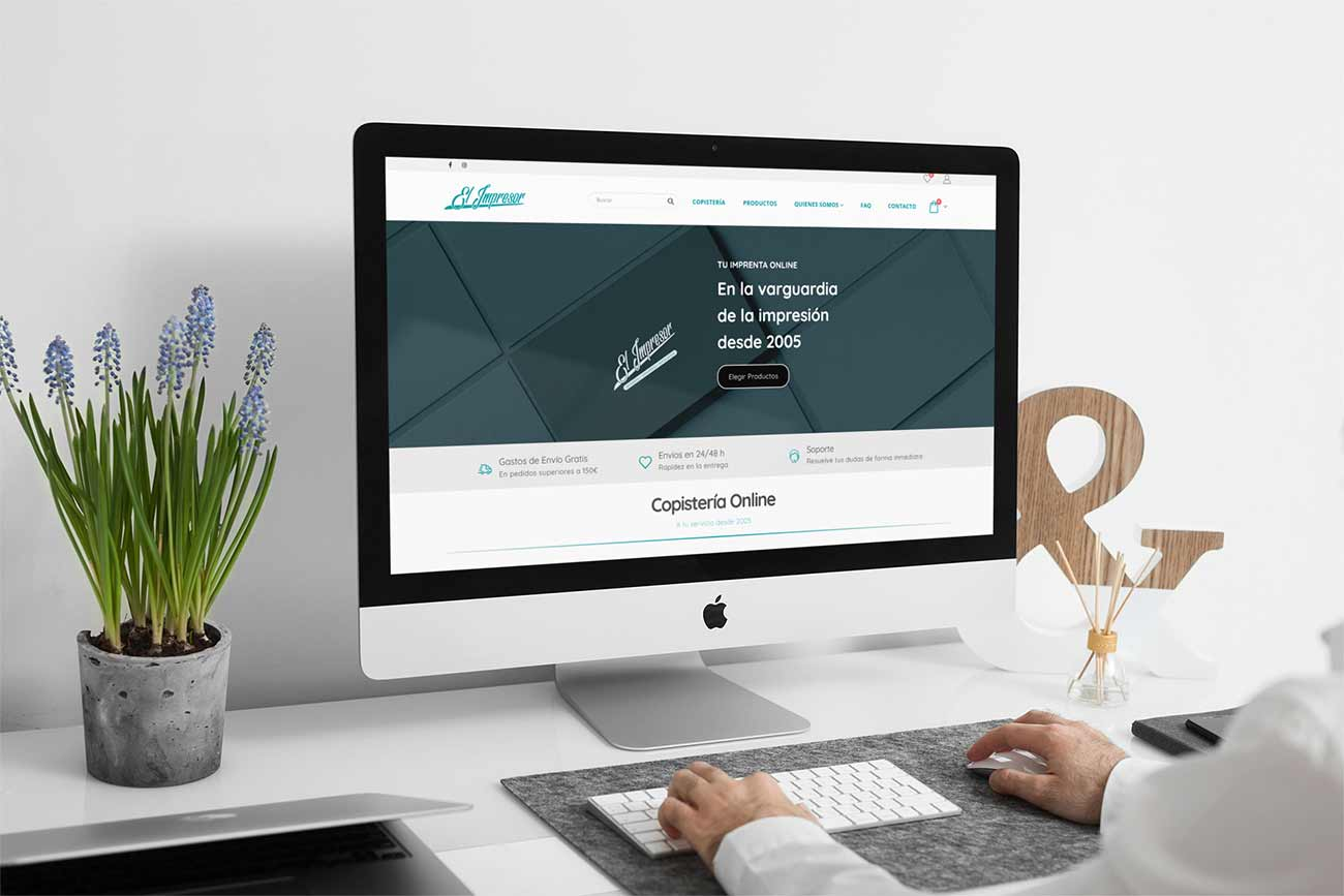 Diseño Tienda Online Copistería El Impresor.