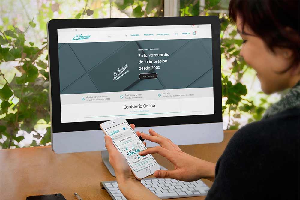 Diseño Tienda Online Copistería iMac