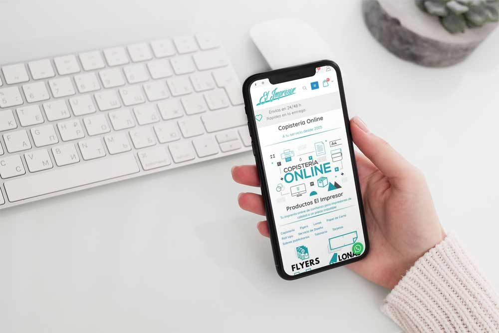 Diseño Tienda Online Copistería iPhone
