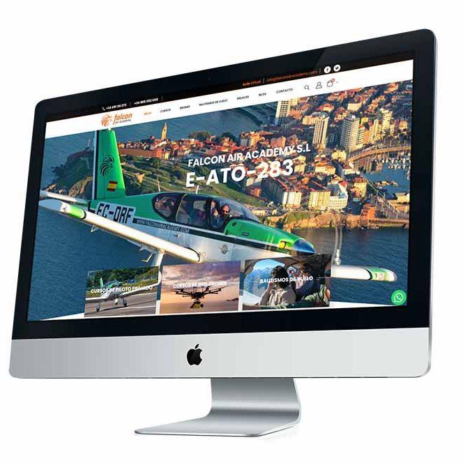 Diseño Web Falcon Air Academy iMAc