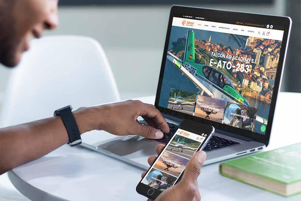 Diseño Web Falcon Air Academy MacBook