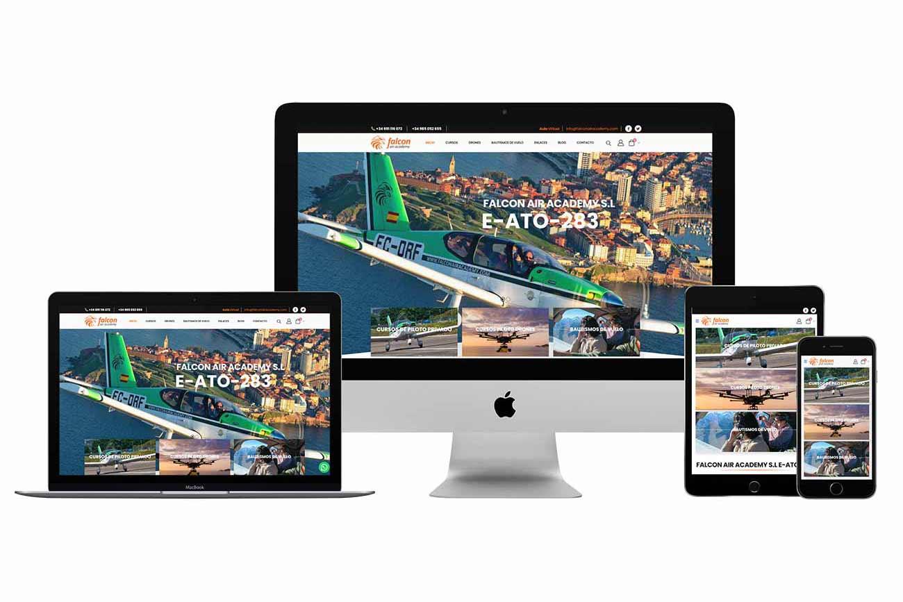 Diseño web Academia Falcon Air Academy