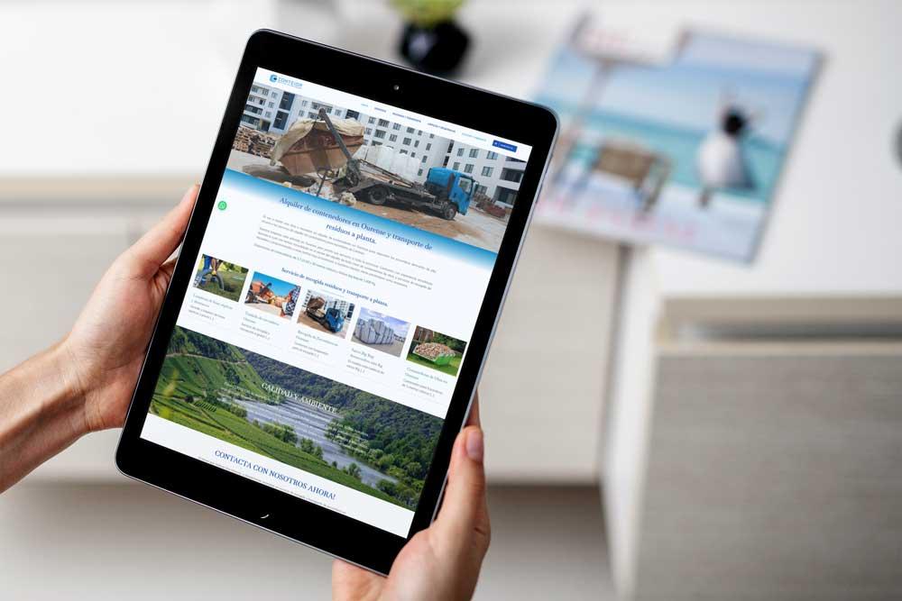 Diseño Web Conteior iPad
