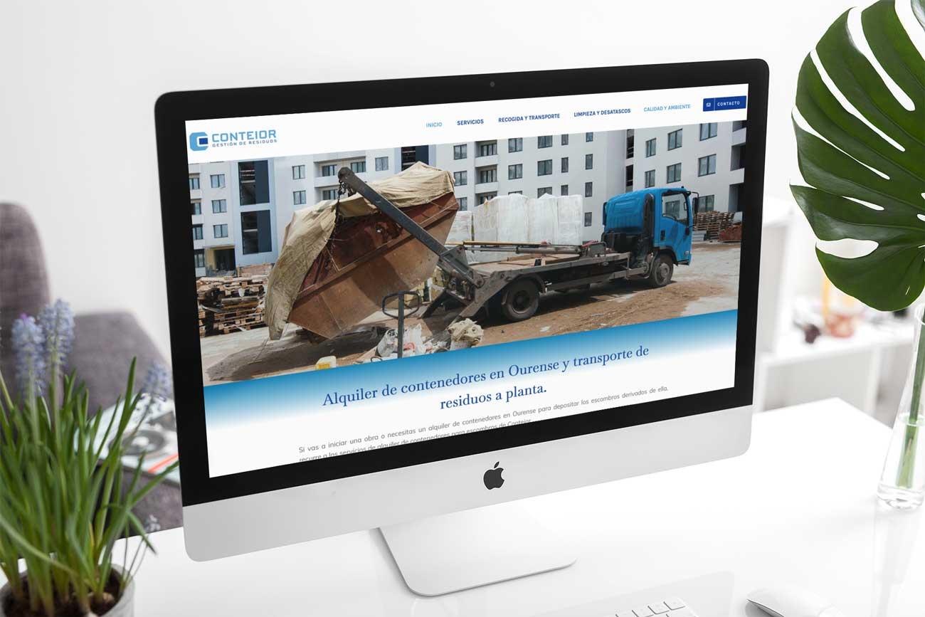 Diseño Web Conteior iMac