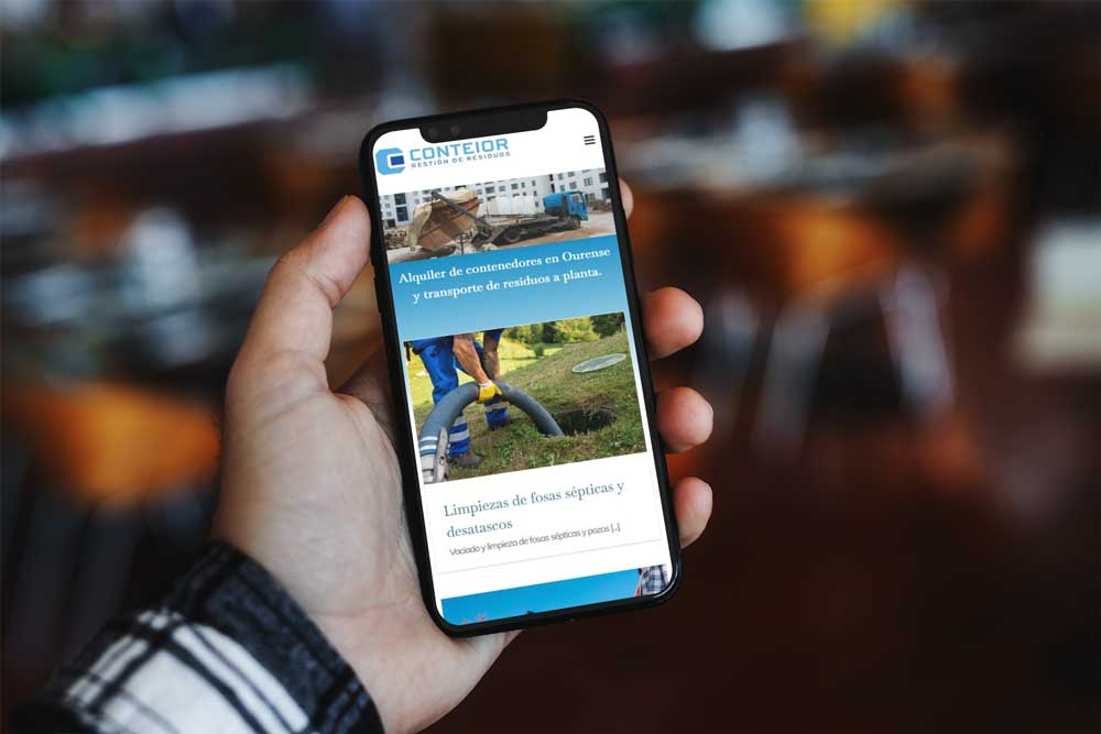 Diseño Web Conteior iPhone