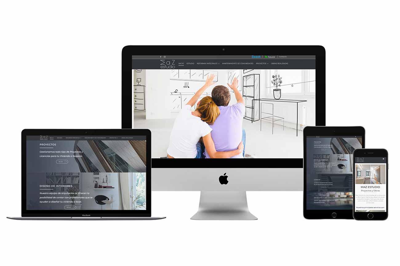 Diseño web Maz Estudio Responsive