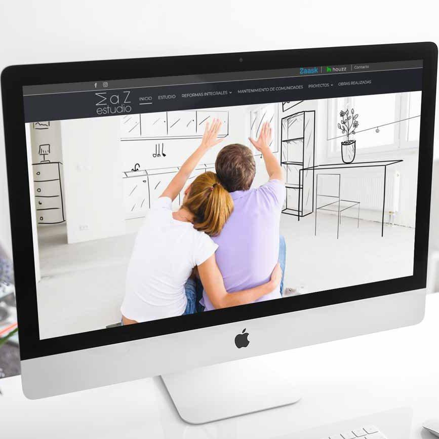 Diseño web Maz Estudio iMac