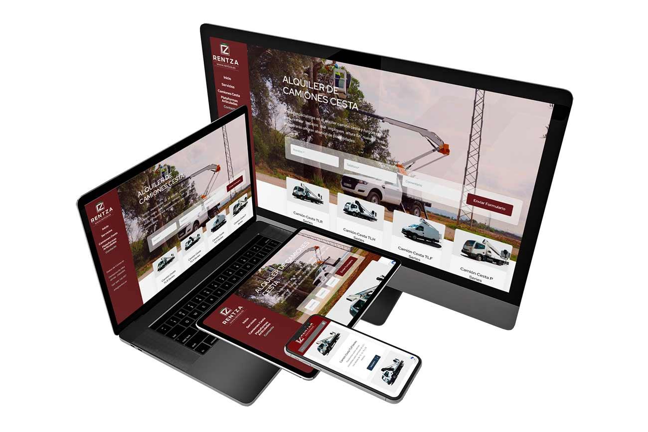 Diseño web Responsive Rentza